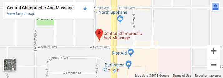 Spokane WA Chiropractic Map
